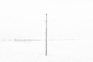 Telephone Pole in Winter, North Dakota