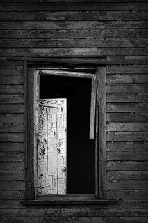 White Door in Window