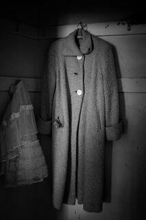 Woman's Coat in Closet