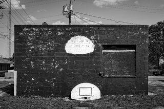 Fallen Basketball Hoop