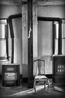 Chair and Two Stoves