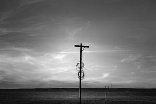 Old Telephone Pole, Wyoming