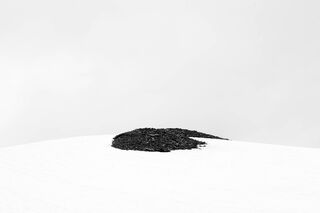 Rock Pile in Melting Snow