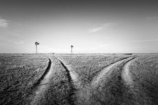 Twin Windmills, Wyoming