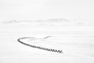 Curving Fence, Wyoming