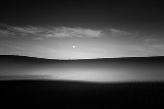 Moonset Over Mesquite Dunes