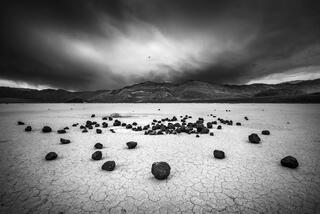 Rocks and Receding Storm