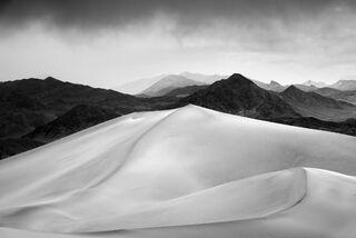 Snow Storm Over Dunes