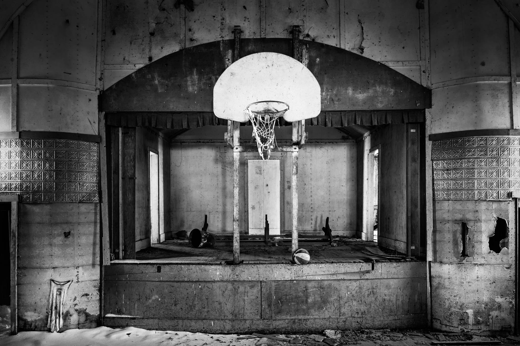 Basketball Hoop and Stage