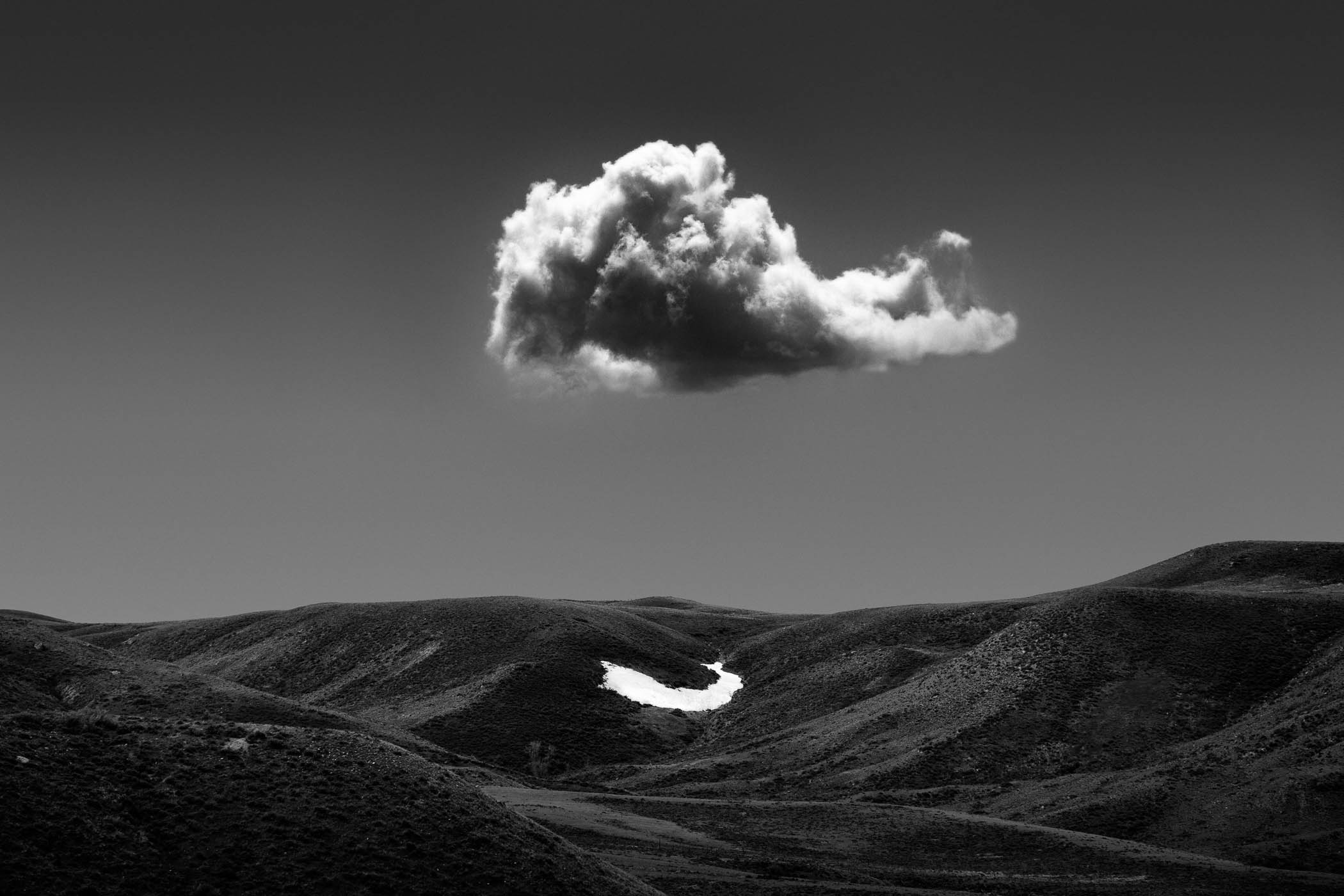 Cloud and the Last Snowbank, Wyoming