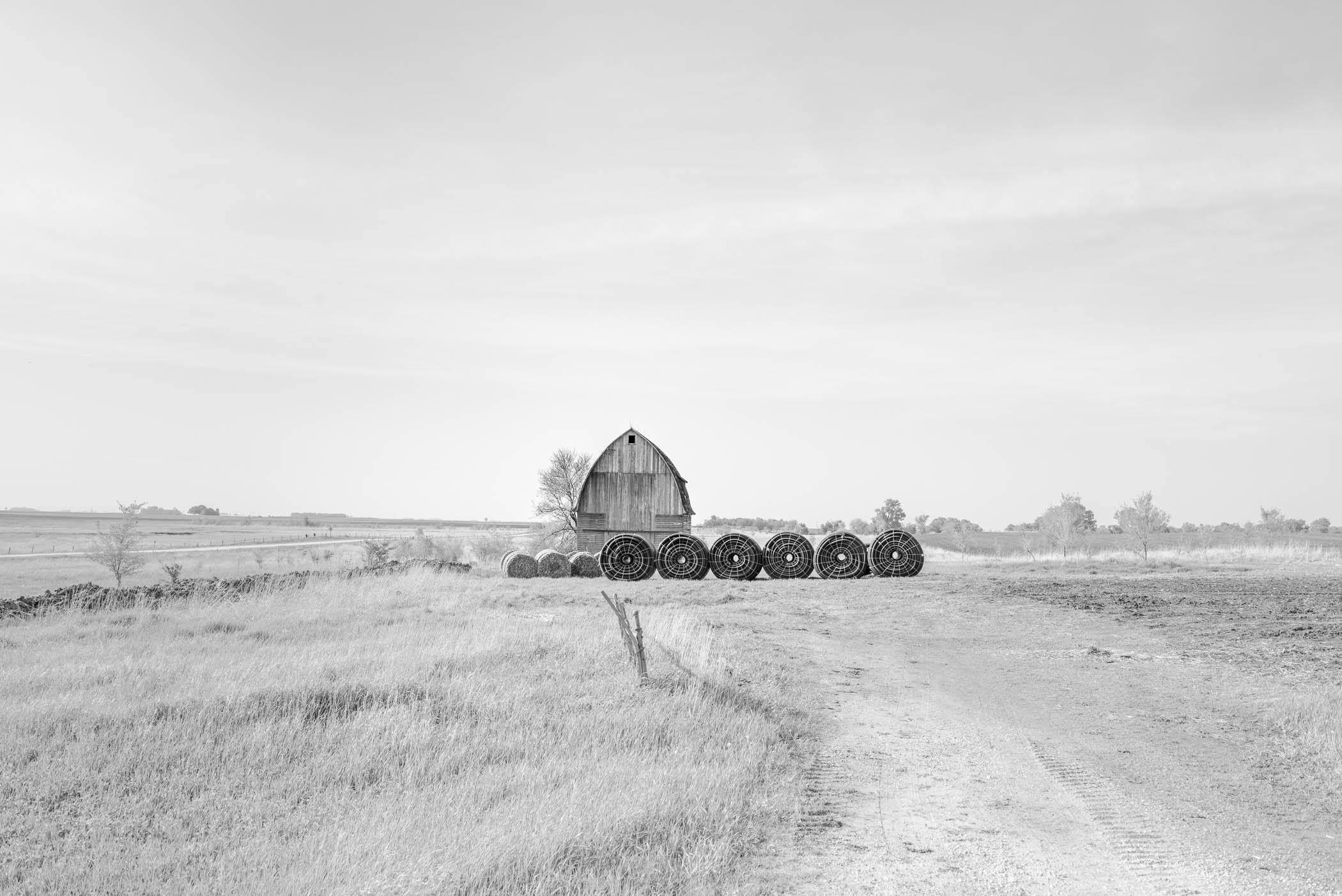 Barn and Bales, South Dakota