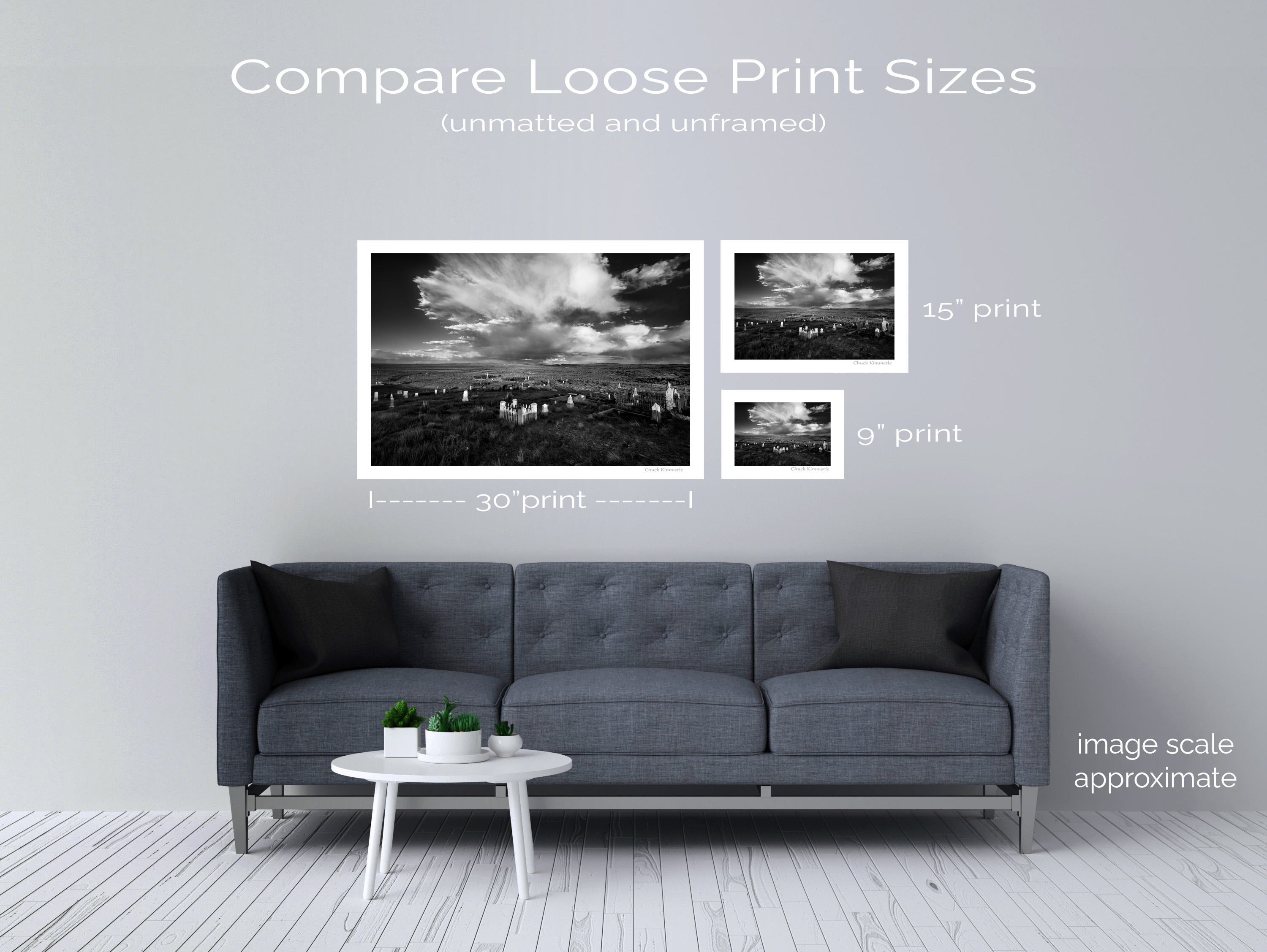 Interior Wall Gallery Mockup with Decoration